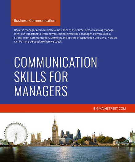 Communication Skills for Managers Course