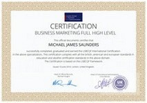 BigMainStreet International Certification Gold Printed